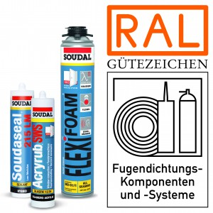 Komplettes Fensterabdichtungssystem mit RAL-Gütezeichen