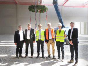 SGBDD-Logistikzentrum feiert Richtfest