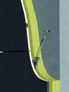 Befestigungssystem für dünne, großformatige Betonfassadenplatten